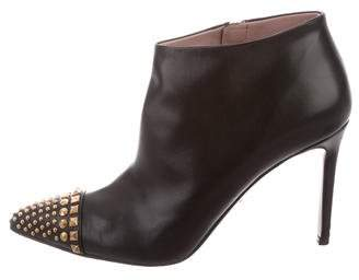 Gucci Studded Cap-Toe Booties