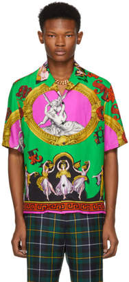 Versace Green Multi Statues Shirt