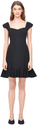 Rebecca Taylor Cap Sleeve Stretch Texture Dress