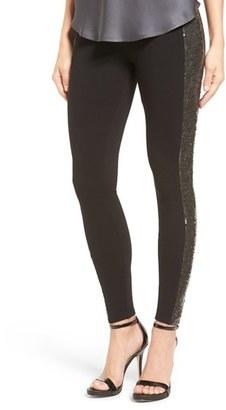 Women's Nordstrom Sequin Sides Leggings $69 thestylecure.com