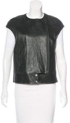 J Brand Bateau Neck Leather Vest