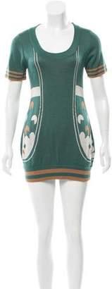 Fendi Intarsia Sweater Dress