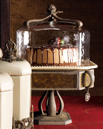 "GG Collection Versailles"" Cake Dome & Pedestal"