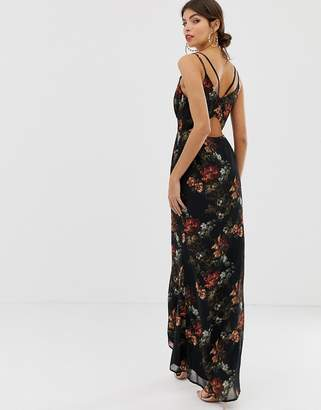 0cf92de2dcca Hope & Ivy floral cami open back maxi dress