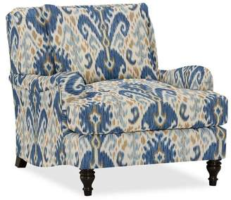 Pottery Barn Carlisle Upholstered Armchair - Print and Pattern