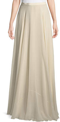 Jenny Packham A-Line Silk Crepe Long Skirt