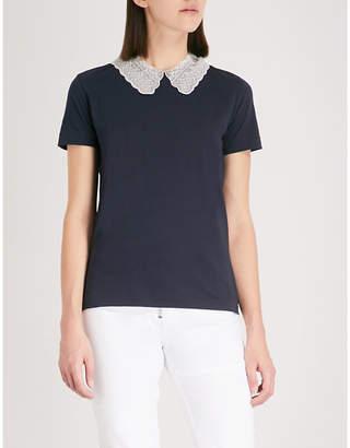 Sandro Peter Pan collar T-shirt
