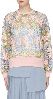 Jonathan Liang Floral embroidered sweatshirt