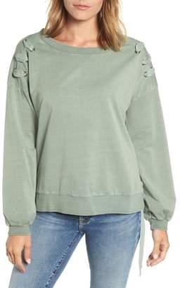 BILLY T Lace-Up Sweatshirt