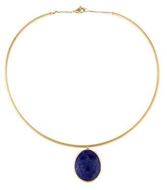 Marco Bicego 18K Lapis Lazuli Lunaria Pendant Necklace