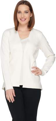 Susan Graver Ponte Knit Long Sleeve Jacket
