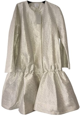 Cos Silver Cotton Coat for Women