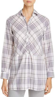 Foxcroft Maddy Winter Plaid Tunic Top