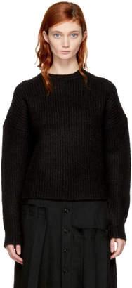 Enfold Black Fluffy Basic Sweater