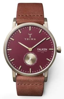 Triwa Ruby Falken Leather Strap Watch, 38mm