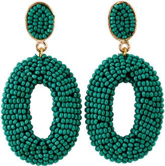 Catherine Stein Green Bead Drop Earrings