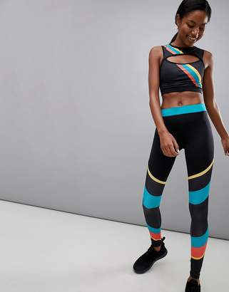 South Beach Rainbow Stripe Gym Leggings