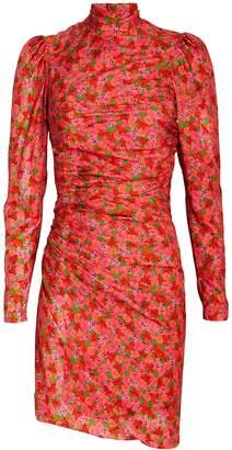 Brøgger Vigdis Draped Floral Mini Dress