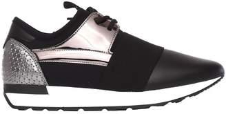 Pollini Black/silver Sneakers