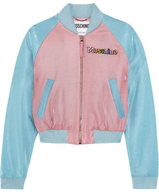 Moschino My Little Pony Appliquéd Lurex Bomber Jacket - Blue