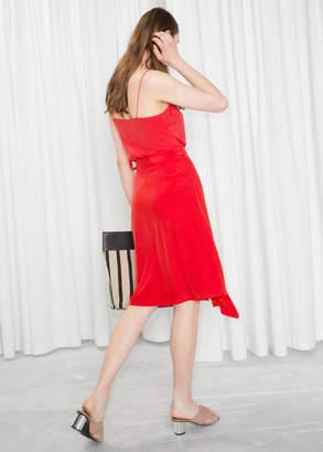 Ruffle Wrap Midi Skirt