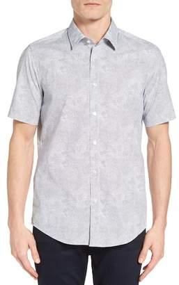 BOSS Luka Regular Fit Print Short Sleeve Sport Shirt