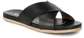 Splendid Jenni Crisscross Leather Sliders
