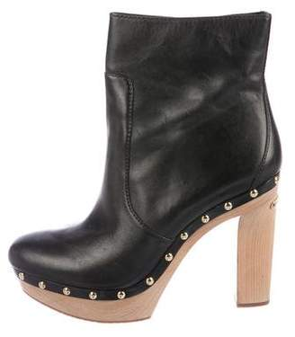 MICHAEL Michael Kors Leather Platform Boots