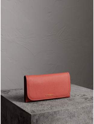 Burberry Two-tone Leather Continental Wallet and Coin Case