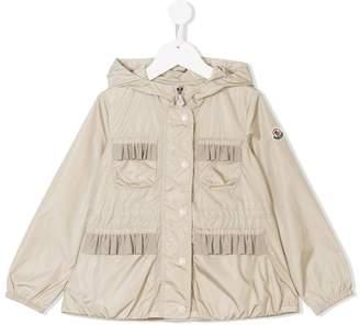 Moncler ruffled pocket hooded jacket