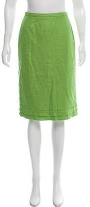 Oscar de la Renta Vintage Tweed Knee-Length Skirt