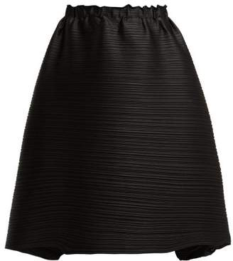 Pleats Please Issey Miyake Stratum Bounce Pleated Skirt - Womens - Black
