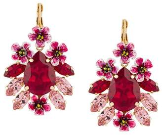 Dolce & Gabbana crystal embellished pendant earrings