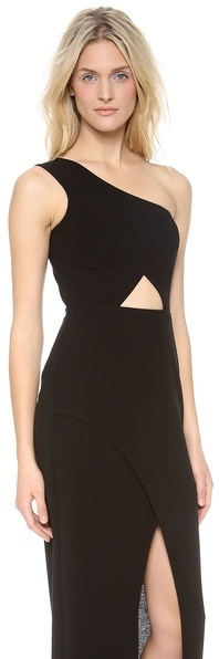 BCBGMAXAZRIA Kauri One Shoulder Maxi Dress