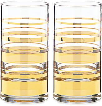 Kate Spade Hampton Street Set of 2 Highball Glasses
