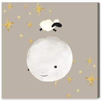 Oliver Gal Sheep Jumping Over the Moon Canvas Art