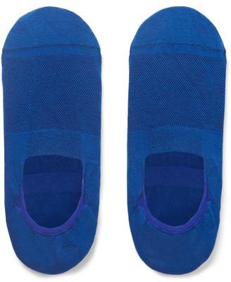 Pantherella Stretch Egyptian Cotton and Nylon-Blend No-Show Socks - Men - Blue