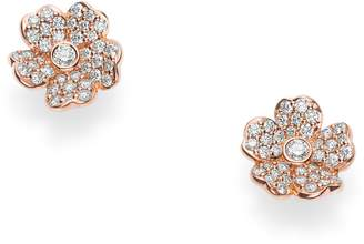 Mikimoto Diamond Flower Stud Earrings