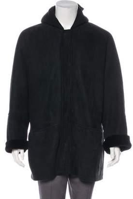 Ralph Lauren Purple Label Suede Zip-Up Coat