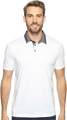 Perry Ellis Men's Pima Chambray Polo Shirt