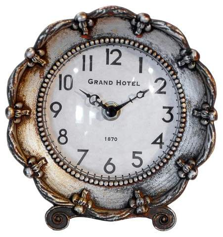 VIP Home & Garden Decorative Table Clock Silver - VIP Home & Garden®
