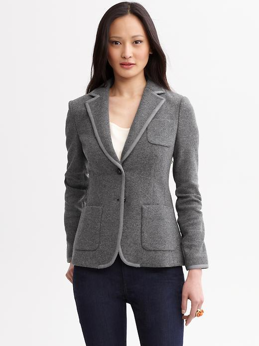 Tipped wool blazer