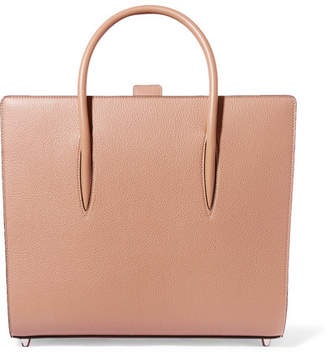 Christian Louboutin Paloma Large Spiked Leather Tote - Beige