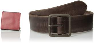 John Varvatos Men's 40 mm Burnished Leather Center Bar Belt