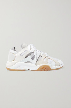 adidas Dimension Low Leather, Neoprene And Mesh Sneakers - White