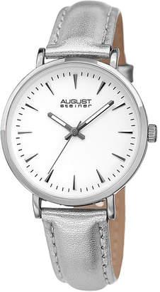 August Steiner Womens Silver Tone Strap Watch-As-8259ss