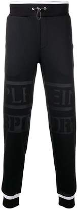 Plein Sport logo tapered jogging bottoms