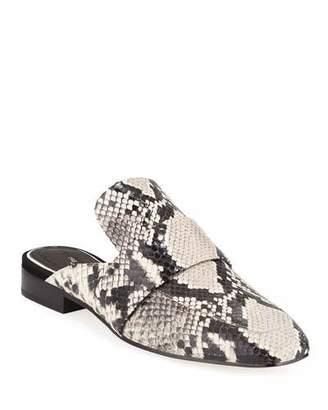Rag & Bone Aslen Snake-Embossed Loafer Mules