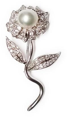 Ri Noor Pearl Flower Brooch