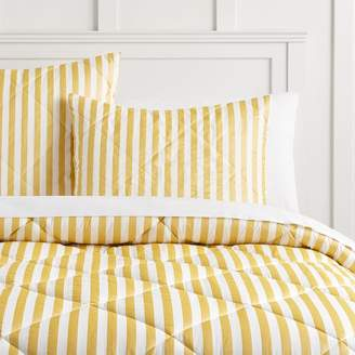 Pottery Barn Teen The Emily & Meritt Pirate Stripe Comforter, Twin/Twin XL, Ivory/Gold